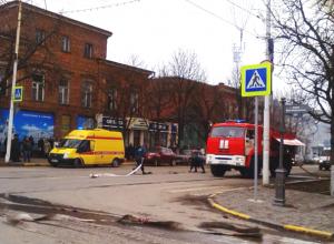 При пожаре в новочеркасской поликлинике пострадал рабочий