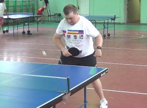 Житель Новочеркасска выиграл чемпионат по настольному теннису среди спортсменов-инвалидов