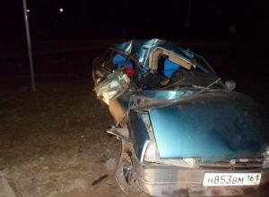 В Новочеркасске пьяный водитель въехал в столб
