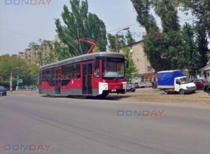 В День Победы по Новочеркасску проехали новые трамваи