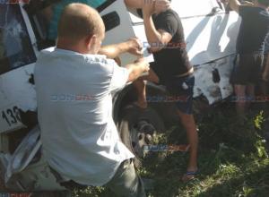 Автобус с пассажирами разбился под Новочеркасском