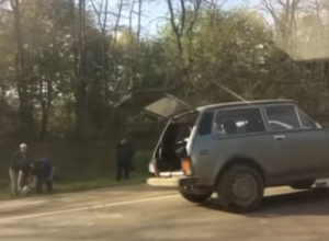 Серьезную аварию с пострадавшей женщиной под Новочеркасском сняли на видео