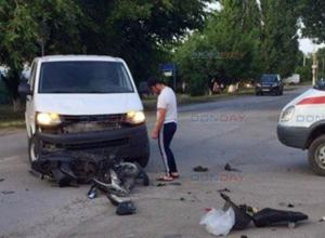 Ехавший без шлема скутерист пострадал в ДТП под Новочеркасском