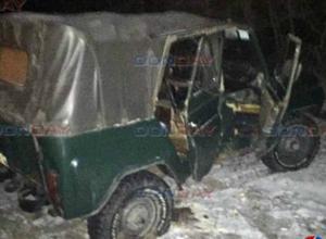 Вылетевший на встречку УАЗ протаранил иномарку на выезде из Новочеркасска