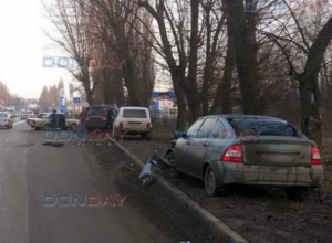 Невнимательный водитель «Приоры» спровоцировал массовое ДТП в Новочеркасске