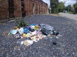 Исчезновение мусорных контейнеров в центре Новочеркасска вызвало загрязнение прилегающих улиц