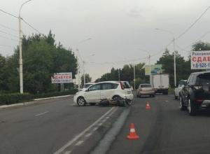 Мотоциклист пострадал в столкновении с Nissan Note в Новочеркасске