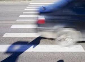 Пешехода сбили на пешеходном переходе
