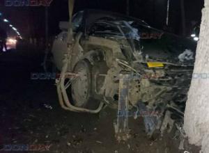 Пьяный водитель «Приоры» протаранил дерево на Баклановском в Новочеркасске