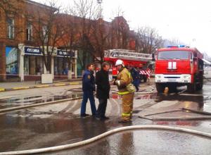 Охватившее первую поликлинику Новочеркасска пламя ликвидировано пожарными