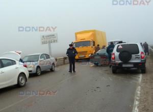 Четыре автомобиля попали в ДТП из-за невнимательного водителя под Новочеркасском