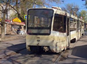 И снова «сбежал» трамвай: в Новочеркасске вагон сошел с рельс