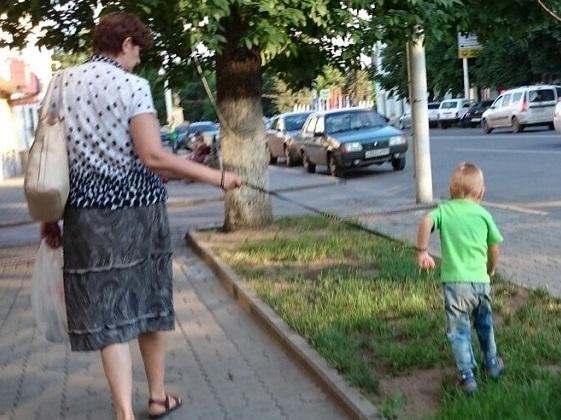 Криминала в действиях бабушки, гулявшей в Новочеркасске с внуком «на поводке», не нашли