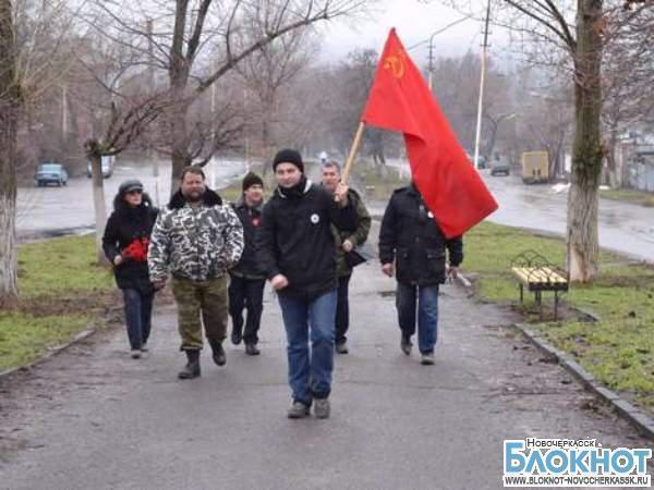 Шествие со Знаменем Победы в честь 70-летия освобождения Новочеркасска поддержало всего 8 человек
