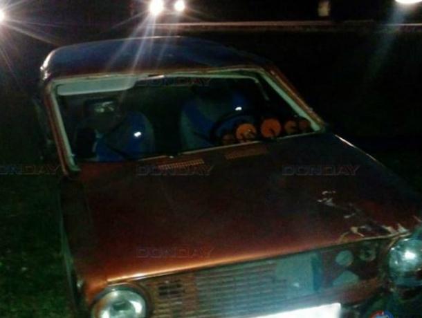 Потерявшая управление «копейка», на большой скорости, совершила «прыжок с переворотом» под Новочеркасском