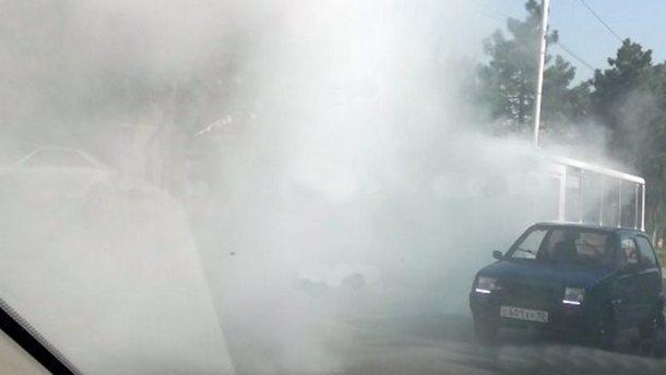 Загоревшуюся на ходу маршрутку в Новочеркасске удалось быстро потушить