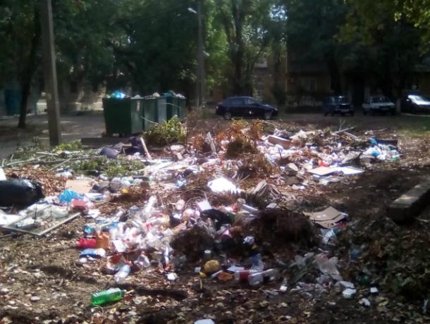 В Новочеркасске, вокруг ДК микрорайона Донского растут мусорные горы