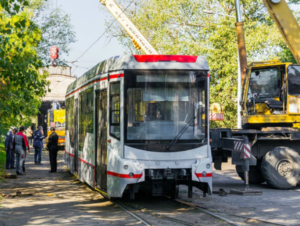 В Новочеркасск приехали новые трамваи