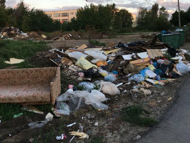 В переулке Дачном Новочеркасска больше месяца не вывозят мусор