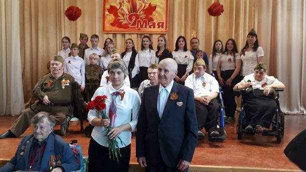 В Новочеркасском доме-интернате для престарелых и инвалидов чествовали ветеранов и детей ВОВ