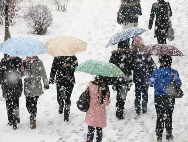 Рабочий понедельник начнется для новочеркасцев с мокрого снега