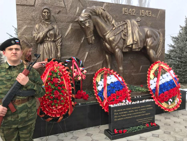 ВКабардино-Балкарии установили монумент новочеркасским кавалеристам