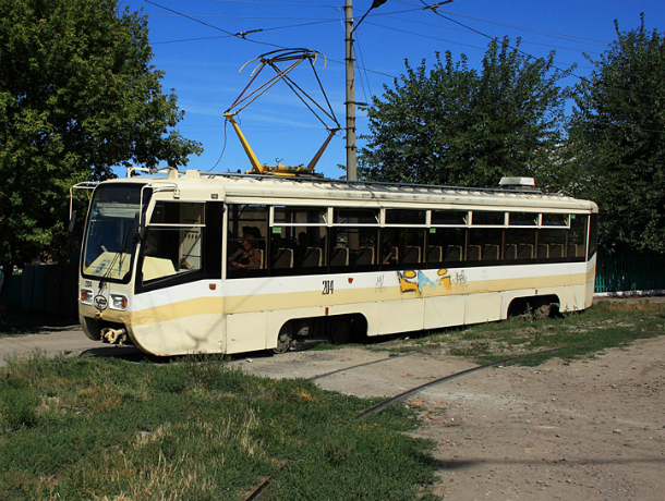 В Новочеркасске возобновили движение трамваев по маршруту № 1