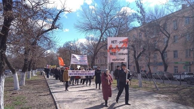 Сотни новочеркасцев вышли на митинг против пенсионной реформы, роста цен и нового формата выборов глав муниципалитетов