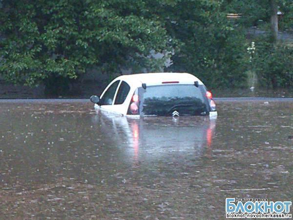 В результате сильного ливня Новочеркасск оказался под водой