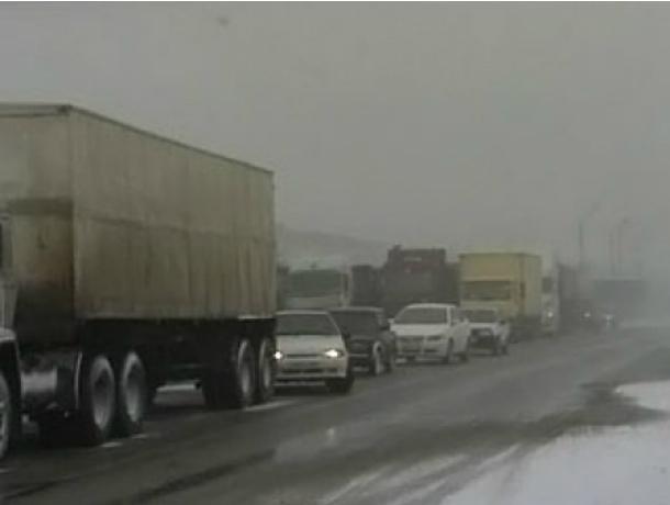 На трассе М4-Дон, вблизи Новочеркасска введено ограничение движения транспорта