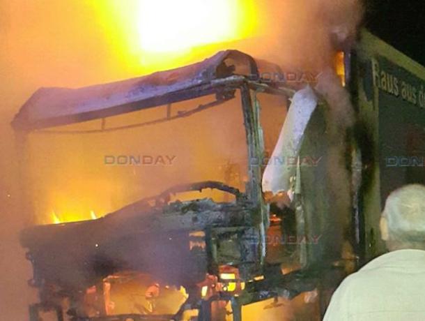Адское пламя погубило грузовик под Новочеркасском
