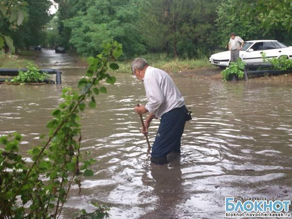 За последние 2 дня в Новочеркасске из-за ливневых дождей случился второй потоп (ВИДЕО)